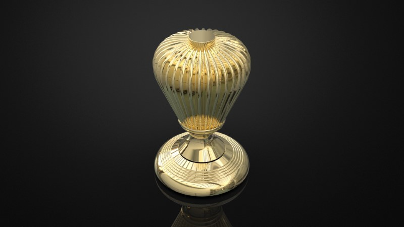 SOLID BRASS MORTICE KNOB INSPIRED #096