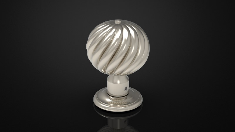 SOLID BRASS MORTICE KNOB INSPIRED #103
