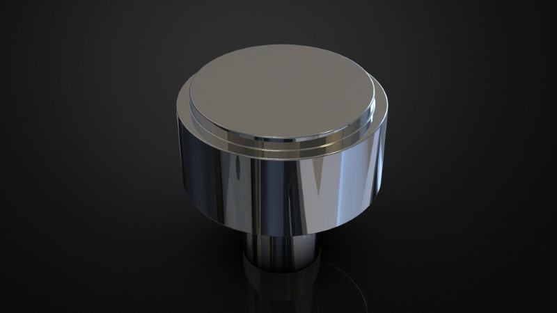 SOLID BRASS MORTICE KNOB INSPIRED #105